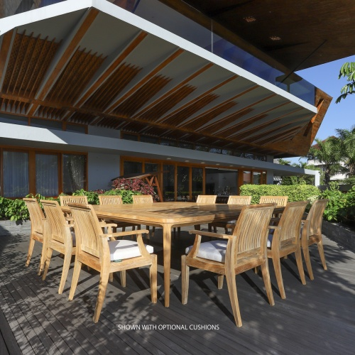 13pc teak outdoor dining sets