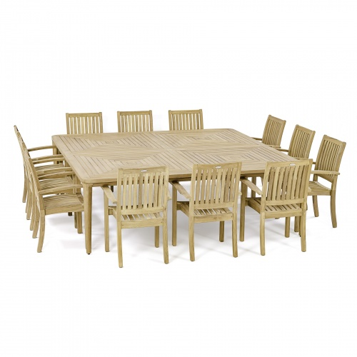 13 piece teak outdoor dining sets