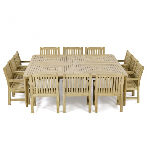 teak outdoor 13 pc dining sets