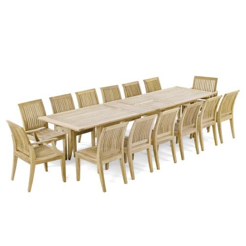 Rectangular 11 FT Dining set