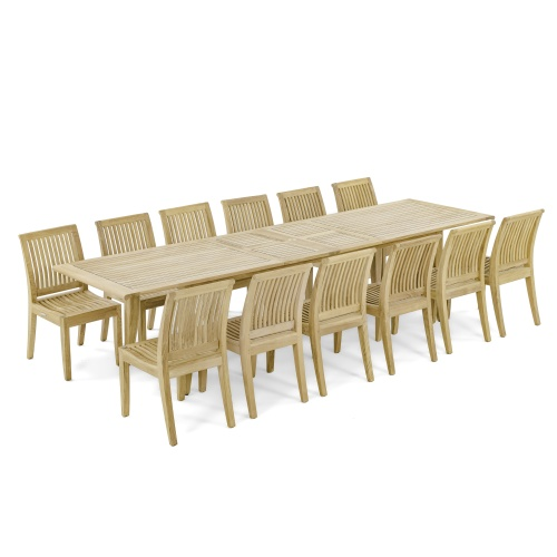 Rectangular 11 FT Dining set