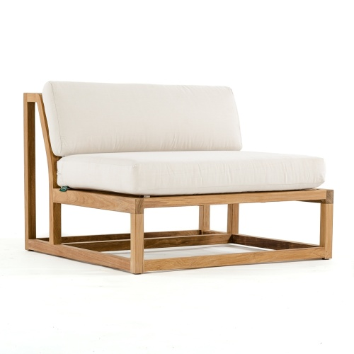 deep seating wooden love seat