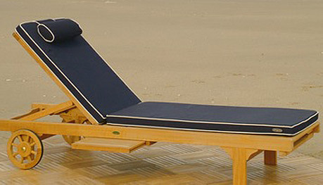 navy blue lounger cushions