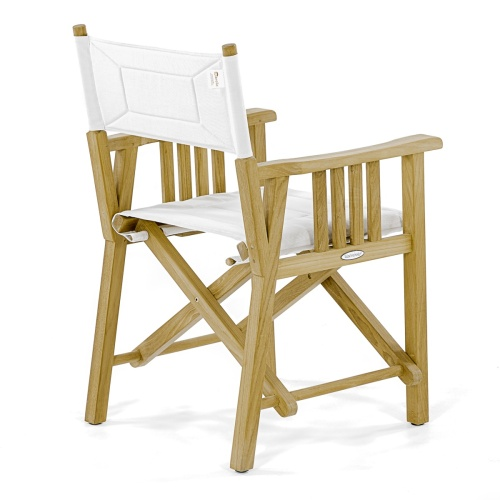 teak directors chairs white