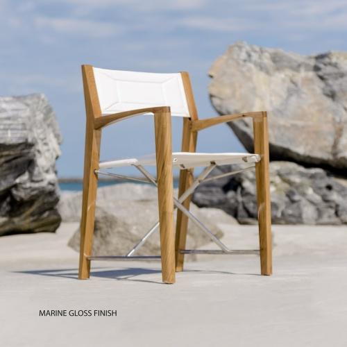 Teak Deck Director Chair