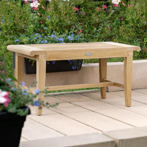 westminster teak 3ft backless bench
