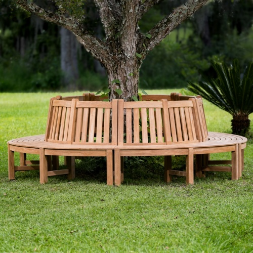 Teak Outdoor Tree Bench