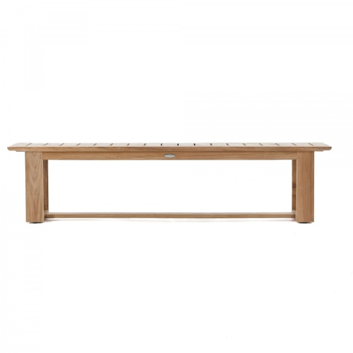 Teak Outdoor Backless Bench