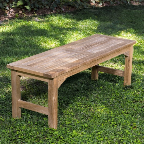 5 foot teak backless bench