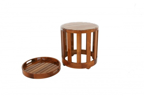 indoor teak end tables