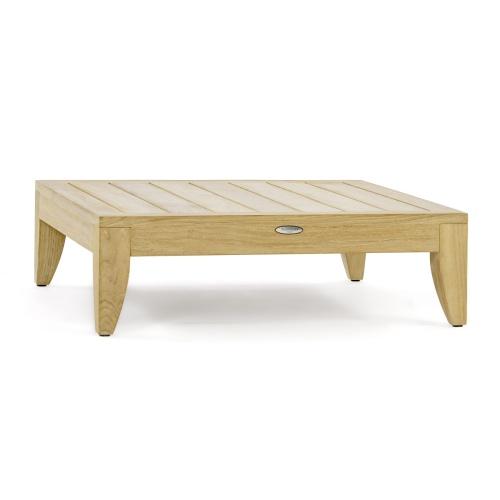 hardwood patio coffee table