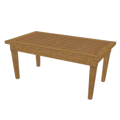 outdoor teak rectangular coffee table
