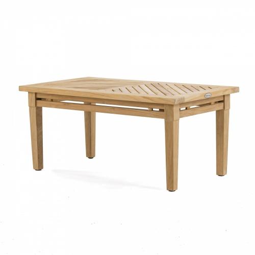 outdoor teak rectangular coffee table