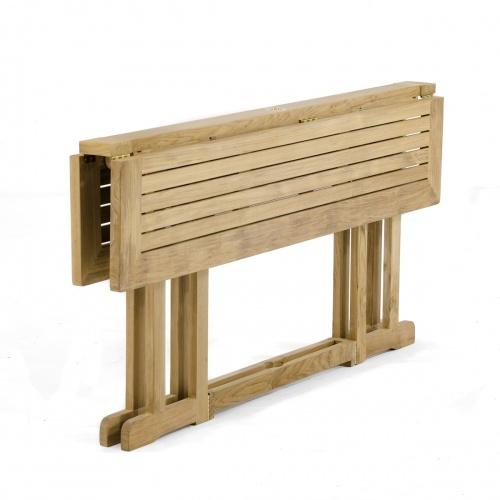 rectangular teak drop leaf table