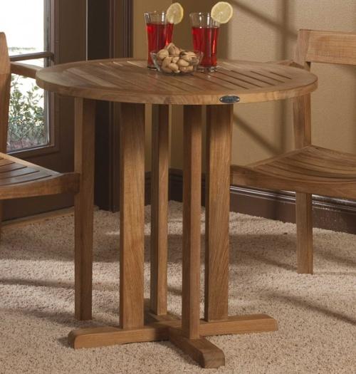 30 inch teak bistro tables