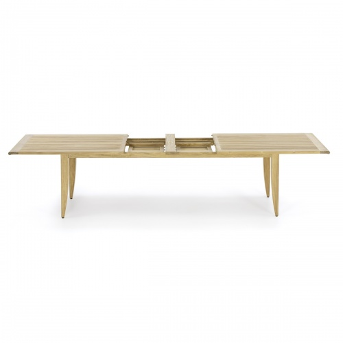double extension rectangle dining table teak