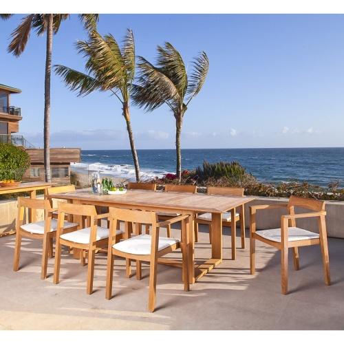 horizon danish style 9pc teak furniture set