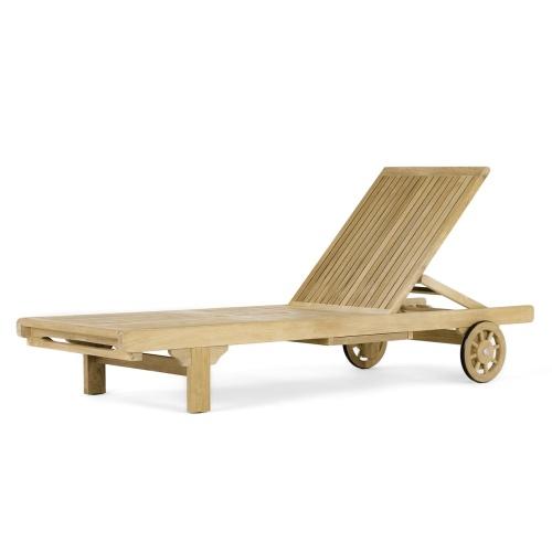 teak wood sun lounger
