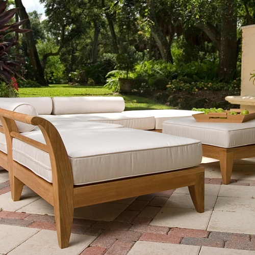 teak daybed sectionals