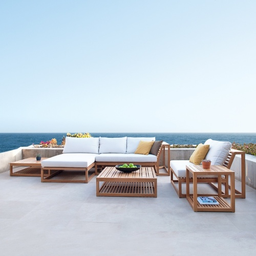 Maya Teak Luxury Patio Furniture Sofa Set