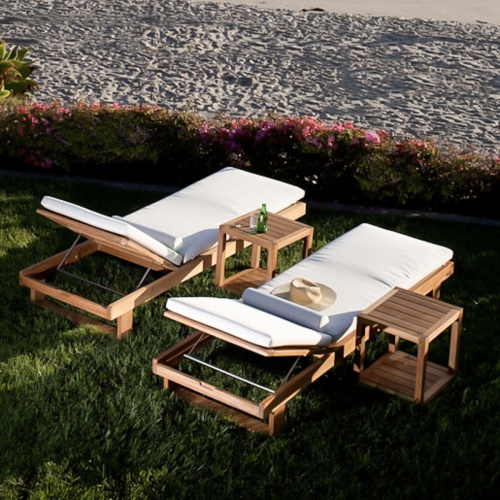 Danish Poolside Teak Lounger