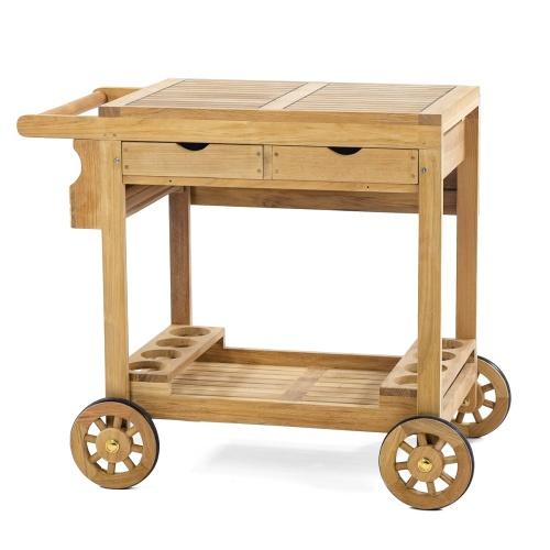 Teak Trolley Cart