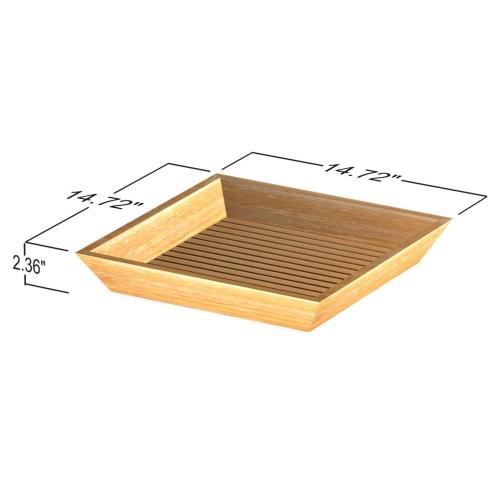 teak bath trays