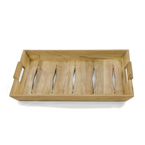 utility teak outdoor tray