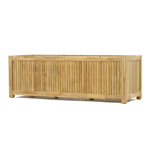 teak outdoor rectangular planters