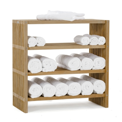Wooden Towel Storage Shelf