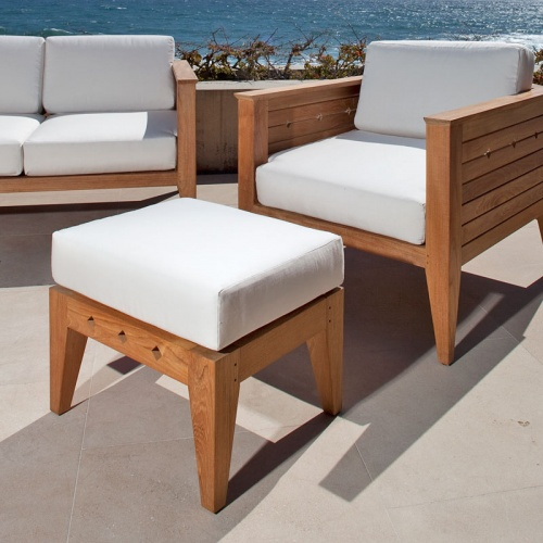 teak outdoor chairs and ottoman