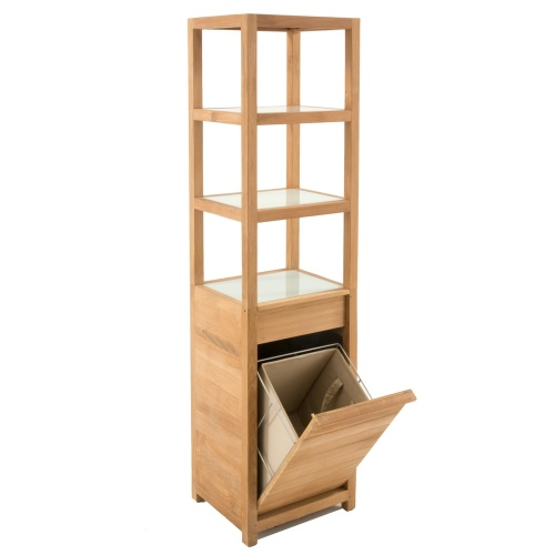 Wooden Shower Laundry Hamper