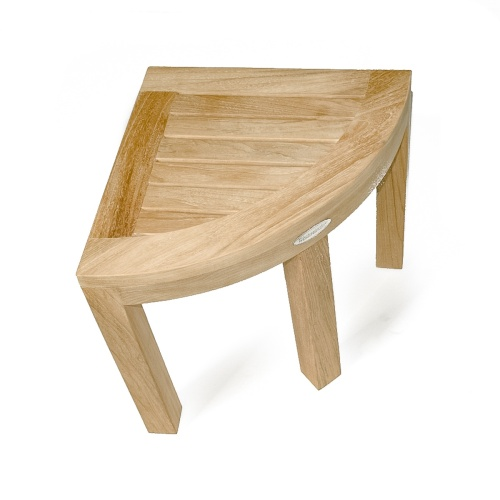 Spa Teak Corner Bench Stool