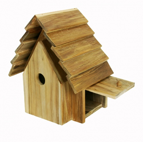 hanging teak bird houses