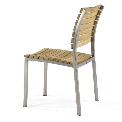 teak & stainless steel chairs