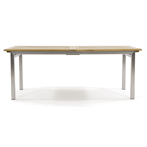 dining table teak and stainless steel