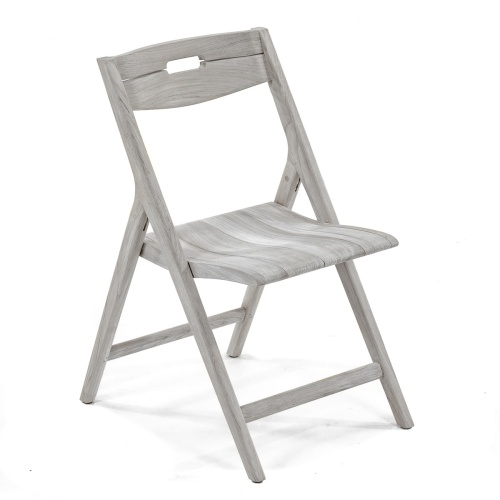 grey folding side chair