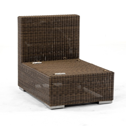 Outdoor Wicker and Aluminum Sliper Chair