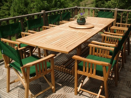 11pc patio table and director chairs