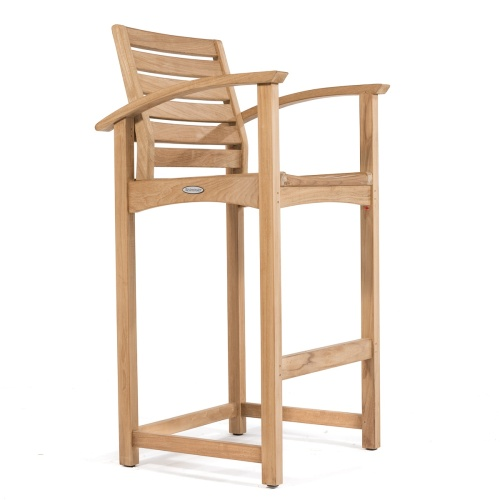 High Teak Barstool