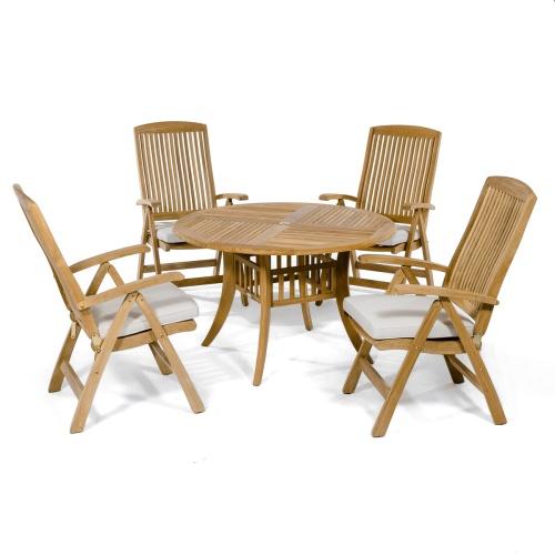 Modern Reclining wooden set for 4