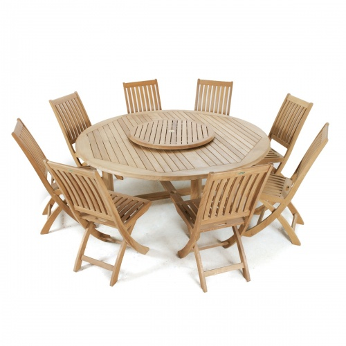 Buckingham 6 ft round folding deck set