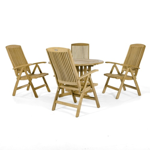 teak wood dining set for indoors
