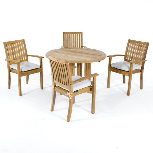 teak folding table and chairs