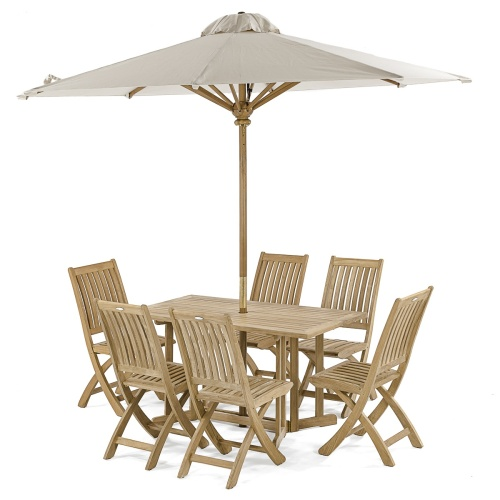 teak 7 pc drop leaf set 6