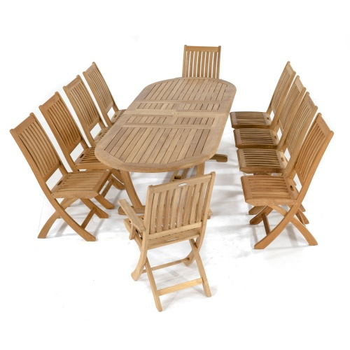 11pc patio table and chairs