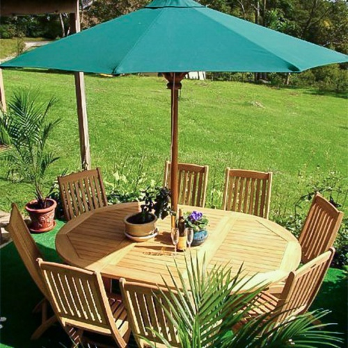 Oval teak wood dining set outdoor