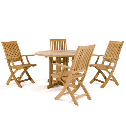 complete wooden folding set