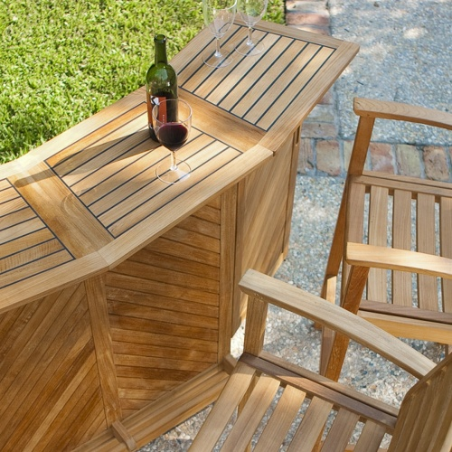 teak outdoor bar storage
