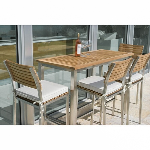5 Pc Stacking Bar Stool Set